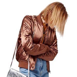 Topshop MA1 bomber jacket - rust